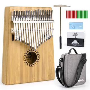 Image Of Bamboo Kalimba 17 Key Thumb Piano Set