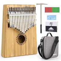 featured image thumbnail for product Bamboo Kalimba 17 Key Thumb Piano Set